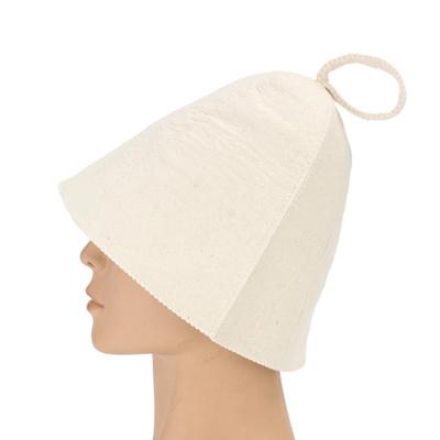 72d62772d Classic Soft Wool Felt Sauna Steam Hat Bath Supply Cap Diameter 22cm Cute  Shower Caps for Beauty Dec
