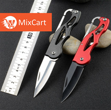 Multifunction Folding Fold Knife Portable Key Ring Camping Mini Peeler Keychain Tactical Rescue