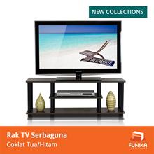 FUNIKA 12250R1 DBR/BK - Rak TV - Coklat Tua/Hitam