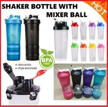 ⚡CHEAP💥$4.99⚡★SG Seller★BPA FREE Shaker Protein Beauty Drink Bottle gym sports+Mixer Ball