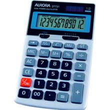 AURORA DT731 12 DIGITS METAL COVER DUAL POWER SIZE: 170x104x31mm (LR44)