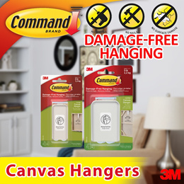 [Official E-Store] 3M™ Command™ Canvas Hangers - Large / Jumbo / Decorate/ Damage-free