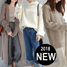 【10.18 update】Winter Sweater Thermal Jacket*Korean version of womens sweaters simple dress pants