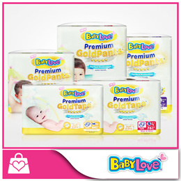 ★BABYLOVE★ PREMIUM GOLD Tape and Pants Diapers - available in ALL sizes [Carton Deal]
