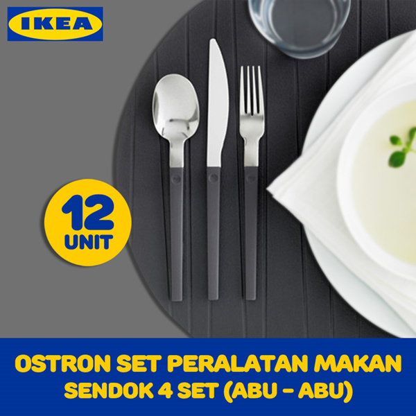 OSTRON Set Peralatan Makan 12 Unit Deals for only Rp149.000 instead of Rp149.000