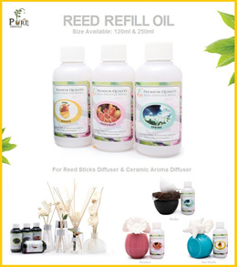 Reed Refill Oil 120ml/ 250ml/bot [For use in Reed Sticks Diffuser / Ceramic Aroma Diffuser]