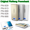 High Quality Original Pineng PN-929 PN-913 PN-999 PN-928 PN-968 Power Bank 15000mAh 20000mAh 10000mAh External Battery Dual USB Flashlight Portable Charger