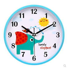 Mute cartoon wall clock living room bedroom clock cute childrens room clock kindergarten