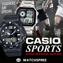 *APPLY 25% OFF COUPONS* CASIO Sports Collection. Water Resistant Sporty Watches.