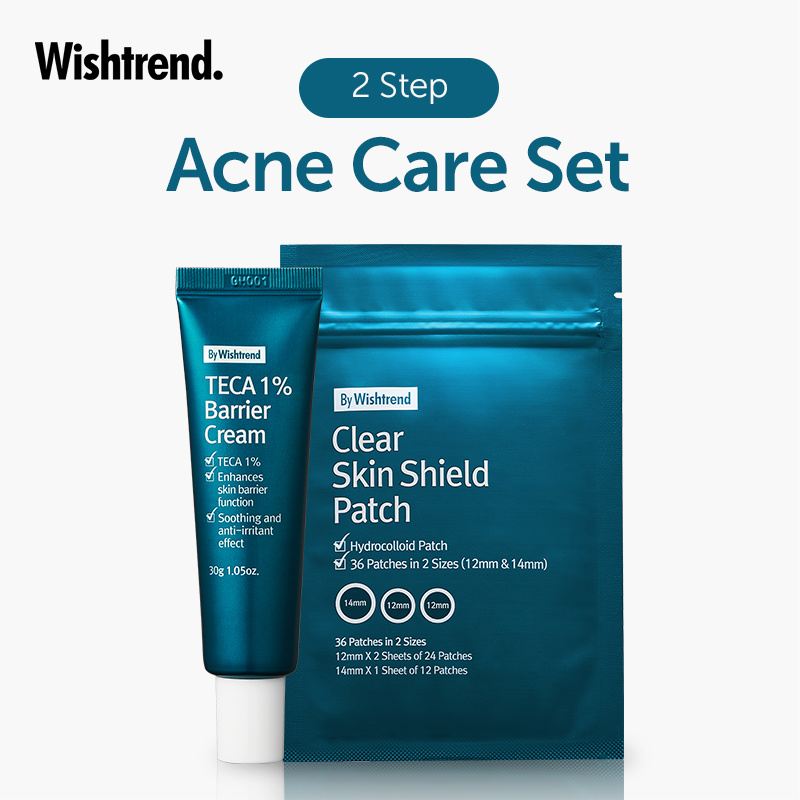 Qoo10 Free Gift By Wishtrend 2 Step Acne Care Set Teca Cream Acne Pat Cosmetics