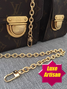 [Luxe Artisan] Premium Quality Detachable Bag Chain Replacement Straps -- Round links
