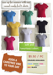 Ladies Casual Premium Cotton Top T-Shirts