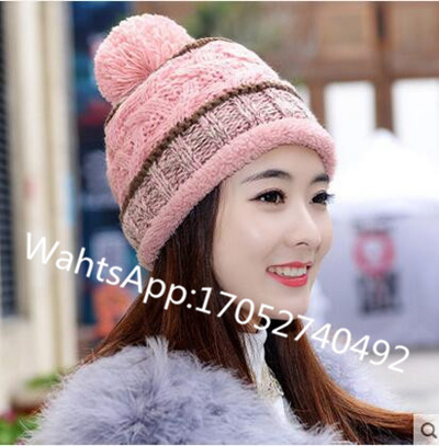 1f09cf1ef31 Ear autumn and winter wool hat Ms. Korea plus thick velvet warm cotton cap  knitted