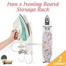 ★ Iron and Ironing Board Storage Rack ★ Wall Hook Hanger Organiser Holder / Heat Resistant
