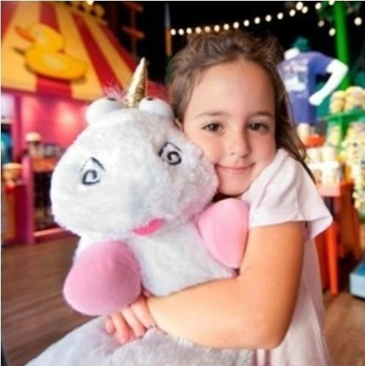16 inch New Despicable Me Fluffy Unicorn White Soft Plush Doll Fluffy Toy Gift