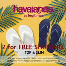 [HAVAIANAS] ♥2 for free shipping ♥ 9 Type TOP&SLIM  full stock