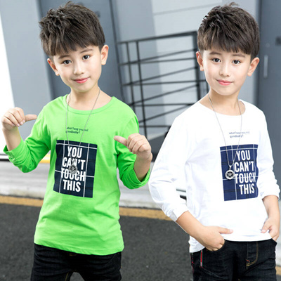 e5bec50aa Qoo10 - Kids Boys jersey Fall children T-shirts 5-15-year-old small ...
