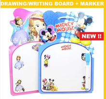 Cartoon drawing whiteboard with marker / Message Board / Goodies Bag / Birthday party flavor bags