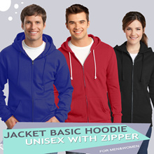 [ 1+1 ]  ** Basic Jacket Hoodie UNISEX with Zipper** full colour 10 colour available