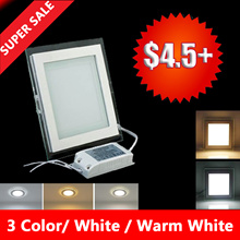 LED glass down light 6w/9w/12w/18w square/round