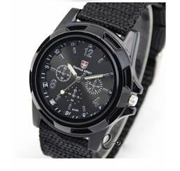 [GX-MX] Swiss Army Watch Canvas Strap Fabric Watch Men Ourdoor Sport Wristwatch Male Analog Clock
