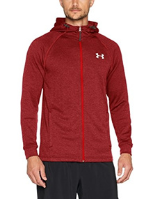 [direct from Germany]Under Armour Herren Tech Terry Fitted FZ Hoodie Oberteil, Red Medium Heather, X