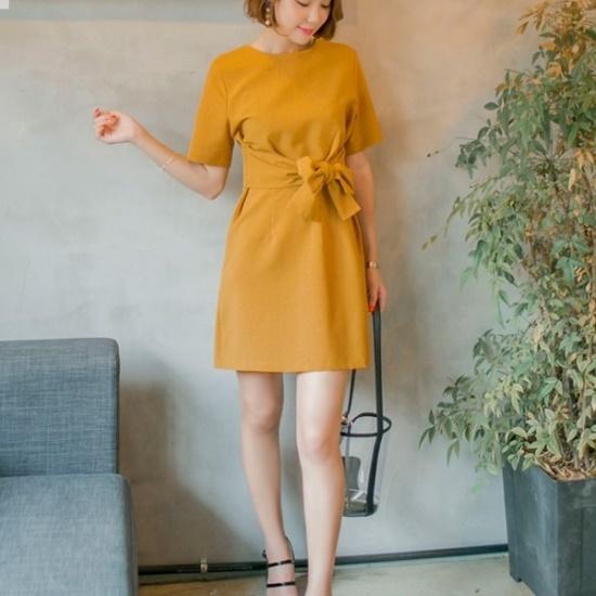 ウィドゥイプン仁田ストラップワンピース 綿ワンピース/ 韓国ファッション