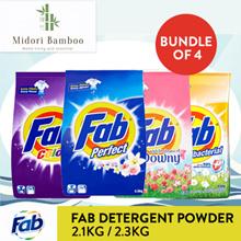 [Midori Bamboo]Bundle of 4 Fab Detergent Powder 2.1-2.3KG