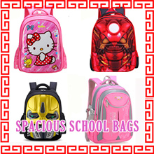 Children school bag primary backpack kids child sling bag toddler outdoor spacious