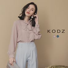 KODZ - Pleated knots Pleated long Sleeved Top-182557