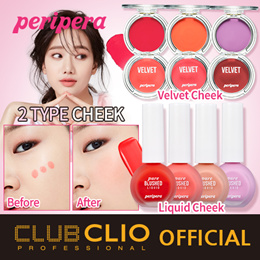 ★NEW★[CLUBCLIO Official e-Store] PERIPERA PURE BLUSHED VELVET CHEEK (Liquid/Pot type)