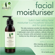 [Sukin Organics Australia] [Fresh Stock] Face - Facial Moisturiser 125ml