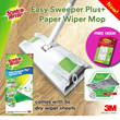 [Official E-Store] Scotch-Brite™ Easy Sweeper Plus+ Paper Wiper Mop/ Floor Cleaner/ Parquet/Laminate