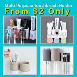Multi Purpose Toothbrush Holder Toothpaste Rack Tooth Brush Oral B