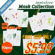 ★2019 New Added!★[Innisfree] New my real squeeze mask pack/Skin clinic/quick tone up/lifting