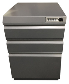 3 Drawer Mobile Pedestal with Combination Lock