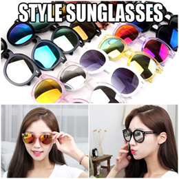 Made in China Style Fashion Sunglasses Round Mirror Type 13 colors Pink Purple Mirror Lens Glasses