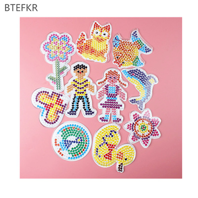 wholesale 3D Puzzle Pegboards Patterns templates for Hama Beads Toys 5mm  Perler Beads Educational T