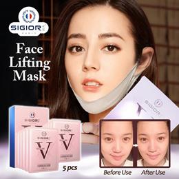 😍 SIGIOR Face Facial Skin Lifting Mask | Anti aging Care Skincare Achieve Slimmer Face 5pcs/Box