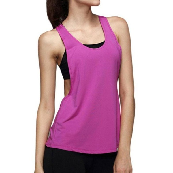 89a4f3df49ba68 fit to viewer. prev next. ingenuity  New Womens Sexy Side Open Sleeveless  Sport Tank Top ...