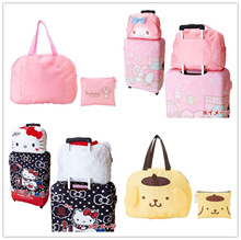 ONE DAY PROMOTION! Cartoon Luggage Add on Bag ♥ Foldable Travel Light Bag ♥ Shoulder Bag/ Backpack
