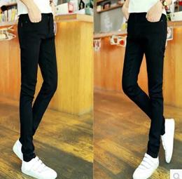 3817101bc9 Mens Jeans Spring and Autumn Mens Slim Slim Pants Teenage Girls Trousers  Pants Mens Black Pants