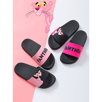 4d204870e5dc Summer Women slipper Slides Pink Panther Cartoon Lovely Beach Slippers  Platform Sandals Women Shoes