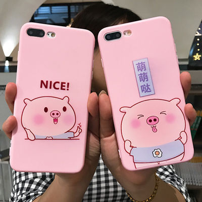 Super sale Cute pig soft mobile phone case for Iphone 6 7 8 plus Iphone X OPPO R9 R9s R11 R11s R15