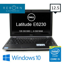 [Refurbished] Dell Latitude E6230/ IntelCore I5 / 128GB SSD/ 8GBRAM / Wins10 Pro / 30 days Warranty