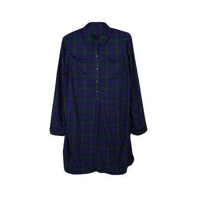 005 Navy Green Plaid