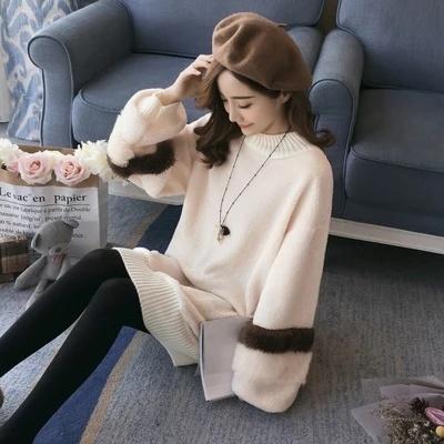 ワンピース 韓国ファッション ロングワンピース ラウンドワンピース ルーズフィットワンピース カジュアルワンピース 冬ワンピース 暖かい秋と冬服新しいファッション