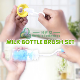 Milk Bottle Cleaning Brush Set / Bottle Cleaner / Nail Clipper