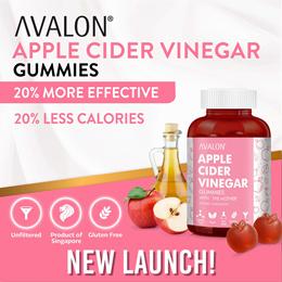 [$19.90 LAST CHANCE TO GRAB] AVALON Apple Cider Vinegar Gummies 60s   20% TASTIER 20% LESS CALORIES