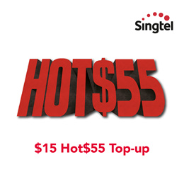 Singtel $15 Hot$55 Top-up